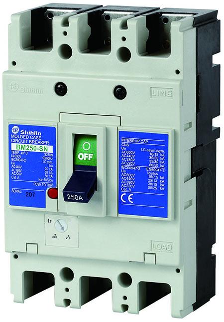 Shihlin Electric Pemutus Sirkuit Kotak Cetakan BM250-SN