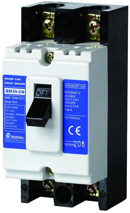 Shihlin Electric Disjuntor em caixa moldada BM30-CN