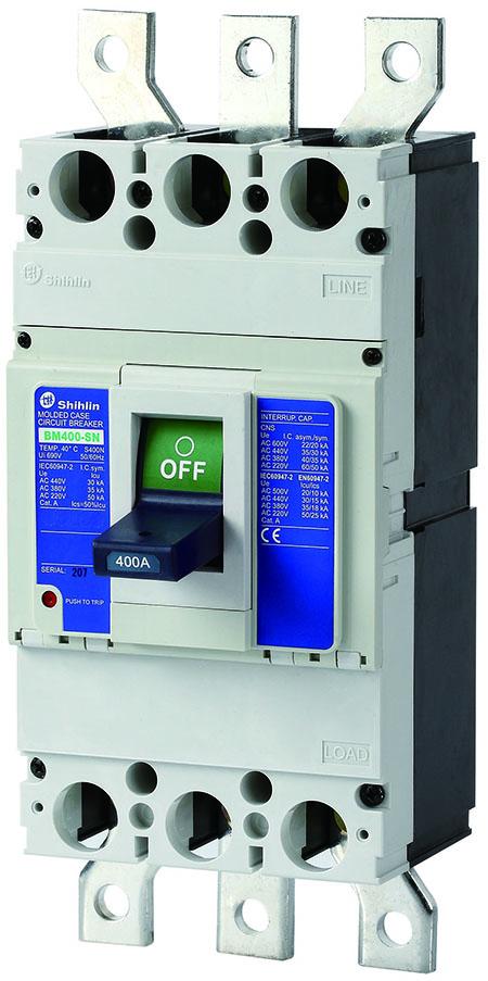 شيهلين قواطع Shihlin Electric حالة مصبوب BM400-SN