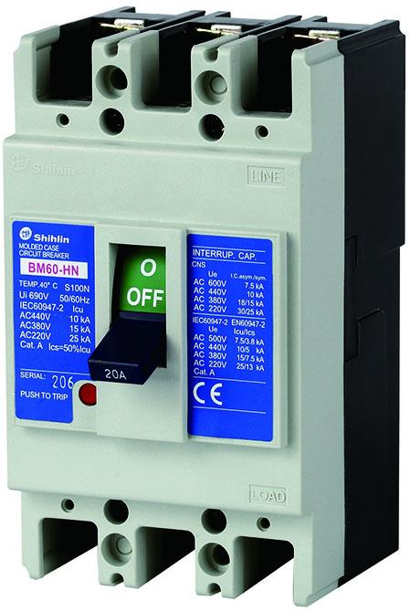Shihlin Electric Disjuntor em caixa moldada BM60-HN