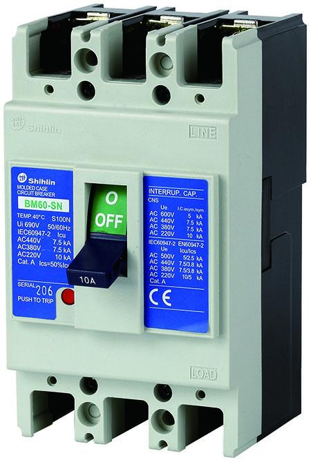 Shihlin Electric Molded Case Circuit Breaker BM60-SN