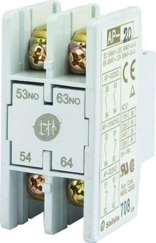 Bloque de contactos auxiliares - Shihlin Electric Bloque de contactos auxiliares AP-2P Tipo frontal