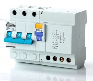 Disjuntor de corrente residual com proteção de sobrecorrente - Shihlin Electric Disjuntor de corrente residual com proteção de sobrecorrente BHL