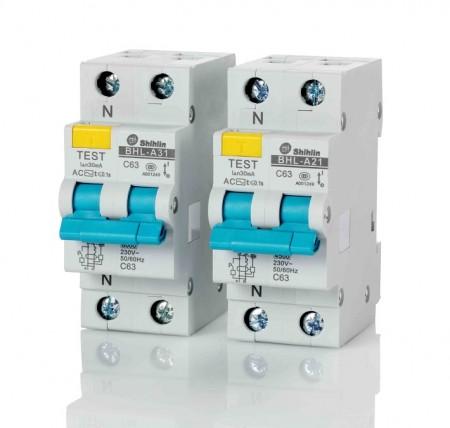 Disjuntor de corrente residual com proteção de sobrecorrente - Shihlin Electric Disjuntor de corrente residual com proteção de sobrecorrente BHL-A