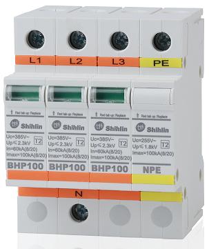 Thiết bị bảo hộ khẩn cấp - Shihlin Electric Thiết bị bảo vệ chống sét lan truyền BHP100