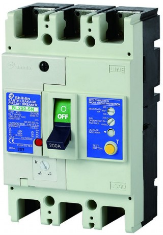 Earth Leakage Circuit Breaker - Shihlin Electric Earth Leakage Circuit Breaker BL250-SN