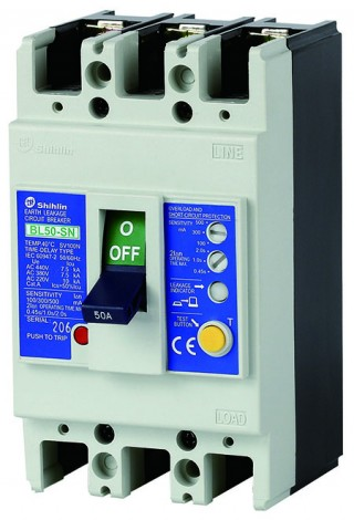Pemutus Sirkuit Kebocoran Bumi - Shihlin Electric Earth Leakage Circuit Breaker BL50-SN