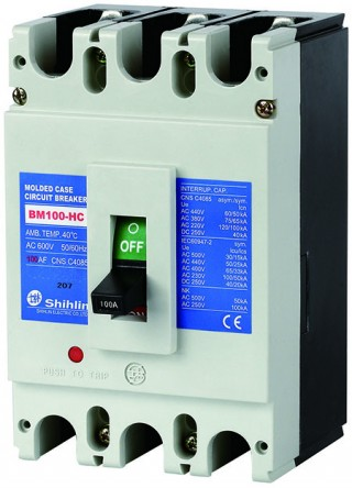 Disjuntor em caixa moldada - Shihlin Electric Disjuntor em caixa moldada BM100-HC