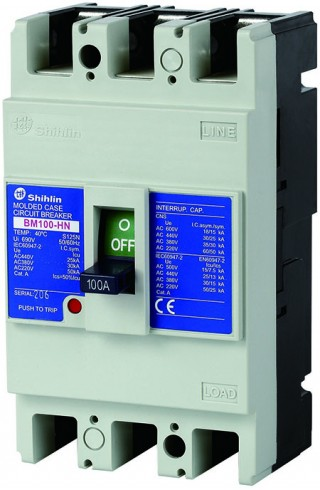 Disjuntor em caixa moldada - Shihlin Electric Disjuntor em caixa moldada BM100-HN