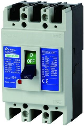 Disjuntor em caixa moldada - Shihlin Electric Disjuntor em caixa moldada BM100-SN