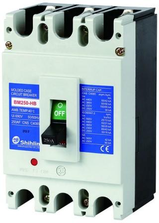 ตัวตัดวงจรกรณีแม่พิมพ์ - Shihlin Electric เซอร์กิตเบรกเกอร์เคสขึ้นรูป BM250-HB