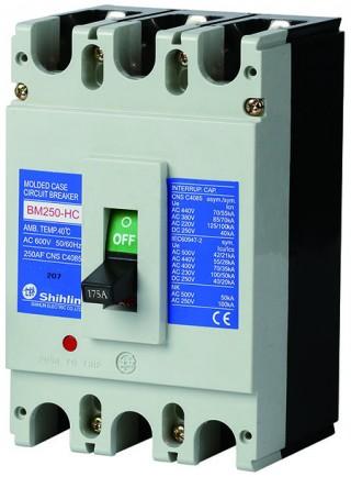 Disjuntor em caixa moldada - Shihlin Electric Disjuntor em caixa moldada BM250-HC