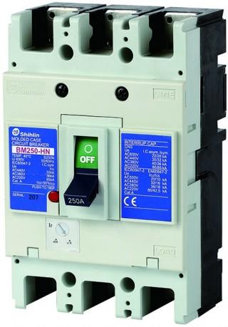 ตัวตัดวงจรกรณีแม่พิมพ์ - Shihlin Electric เซอร์กิตเบรกเกอร์เคสขึ้นรูป BM250-HN
