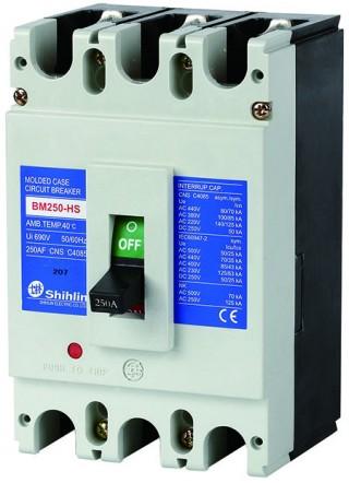 Disjuntor em caixa moldada - Shihlin Electric Disjuntor em caixa moldada BM250-HS