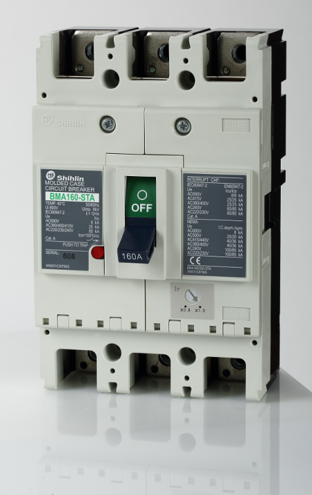 Disjuntor em caixa moldada - Shihlin Electric Disjuntor em caixa moldada BMA160