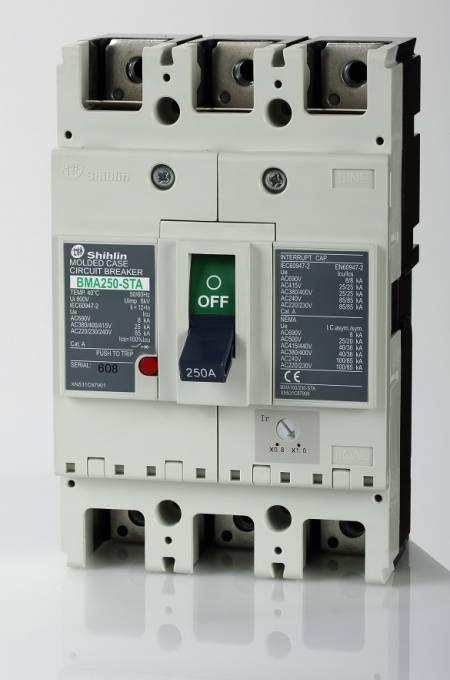 Disjuntor em caixa moldada - Shihlin Electric Disjuntor em caixa moldada BMA250