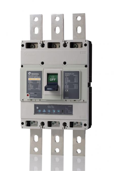 Disjuntor em caixa moldada - unidade de disparo eletrônico - Shihlin Electric Disjuntor em caixa moldada BMA800