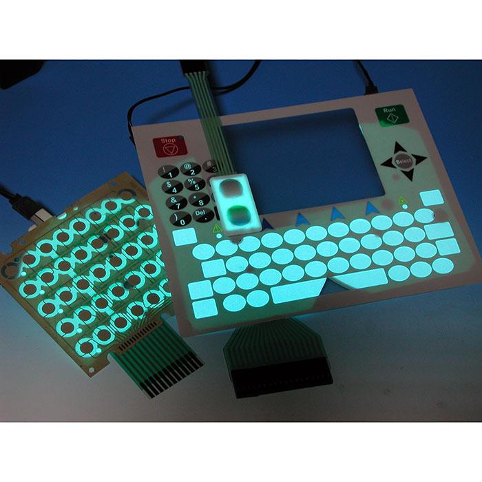 لوحة El مجمعة مع مفتاح غشاء - تبديل غشاء الإضاءة الخلفية