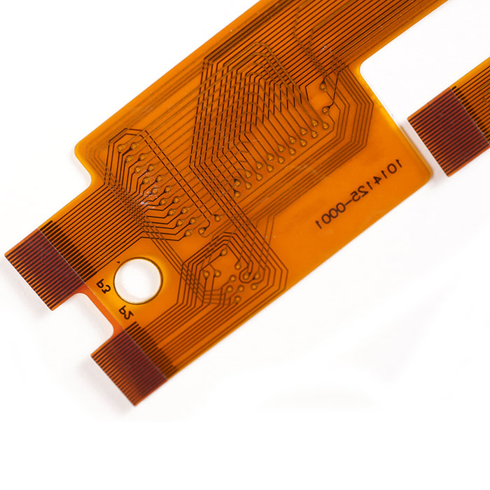 Flexible Printed Circuit with Stiffener - Double Sided FPC. Assembled with Stiffener.
