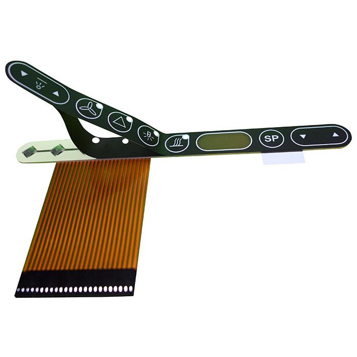 Circuitos impresos flexible ensamblado Frentes de policarbonato - Doble cara Circuitos impresos flexible. Ensamblado con componentes.