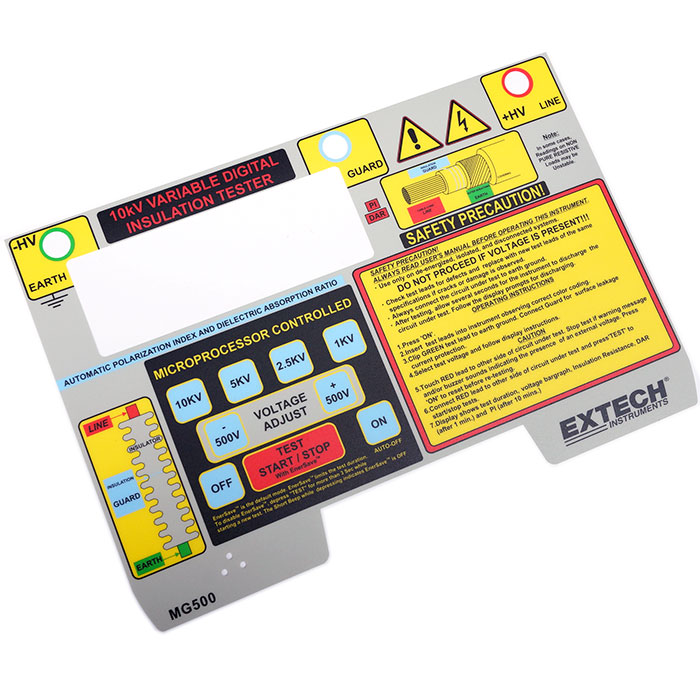 More than 10 colors silk printing graphic overlay - Microprocessor controlled overlay