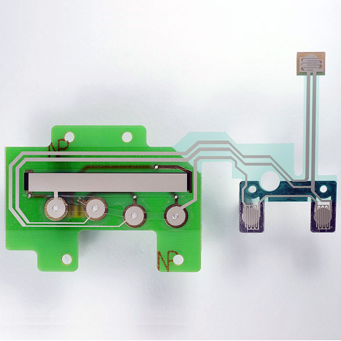 PCB combine with silver printed circuit - Printed Circuit Board + silver ink circuit