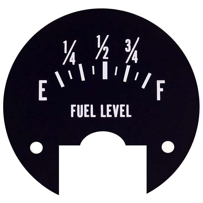 Fuel level scale Printed Aluminum Plates - Metal name-plate with printing number.