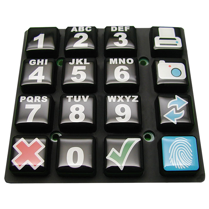 Controlling device Silicone Rubber Keypad - Silicone Rubber Keypad
