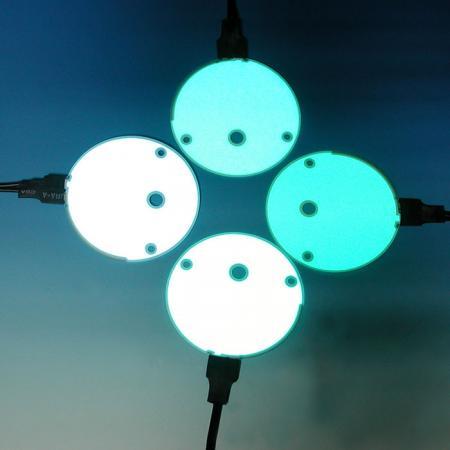 Multicolore      Électroluminescence rétro-éclairage - Électroluminescence pour la variété de tableau de bord.