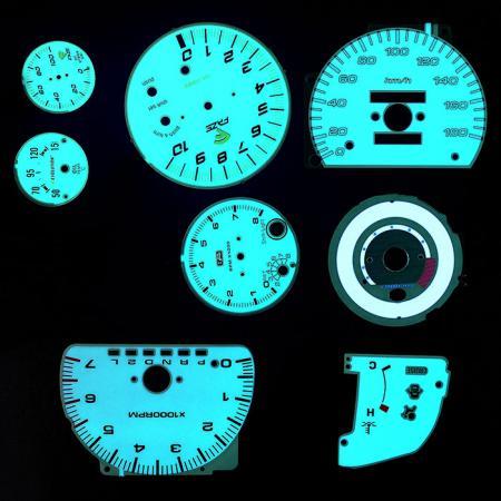 rétroéclairage du tableau de bord      Électroluminescence - Électroluminescence pour tableau de bord de voiture.