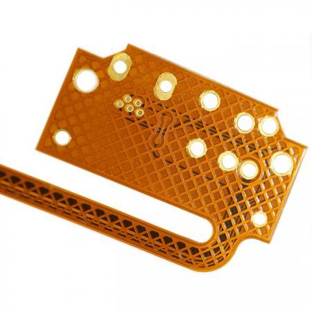 Circuito impresso flexível chapeado de ouro - FPC dupla face folheada a ouro.