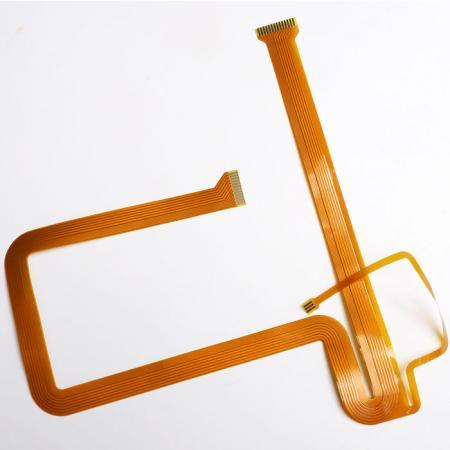 Circuito Impresso Flexível (FPC) - FPC de dupla face. Montado com componentes.