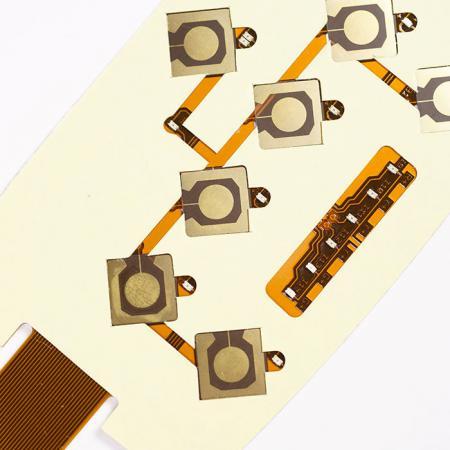 Circuito Impresso Flexível SMT - FPC de dupla face. Montado com componentes.