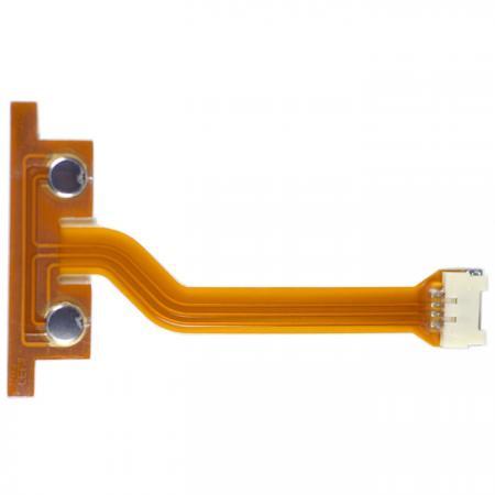 Circuito Impresso Flexível com Cúpula de Metal - FPC de dupla face. Montado com Metal Dome.