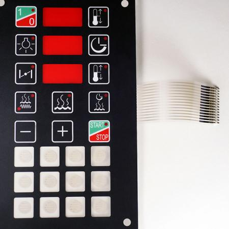 Red transparent windows keypad - Industry use membrane switch