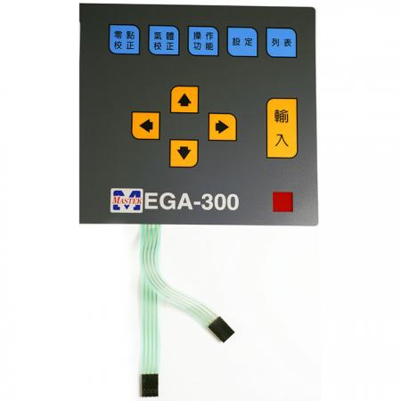 Equipment machine Membrane Switch keypad - Membrane switch with connector