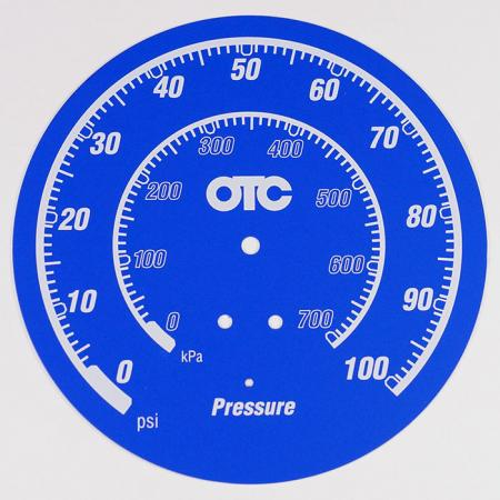 Pressure scale NamePlate - Aluminum Plate with printing numeral on the surface.