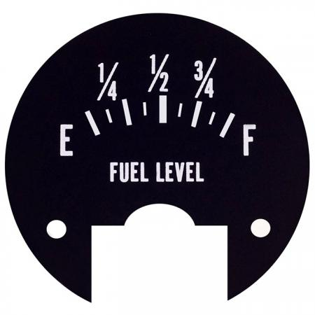 Fuel level scale Nameplate - Metal name-plate with printing number.
