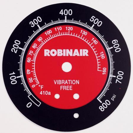 Placa de alumínio do dispositivo de inspeção - Placa de identificação com numeração impressa na parte superior e 3 cores.