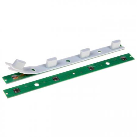 El teclado de goma se combina con PCB