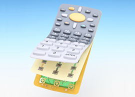 Silicone Rubber Assembled with PCB