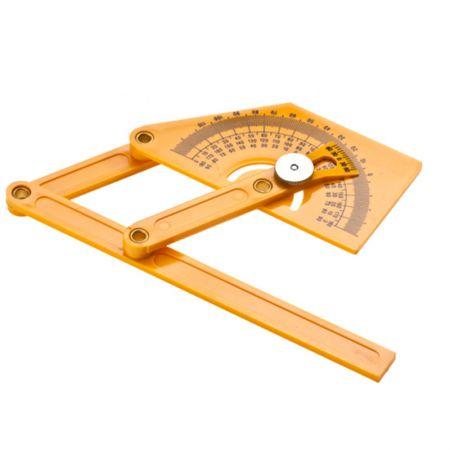 6インチのプラスチック分度器と角度ファインダー - アングルファインダー