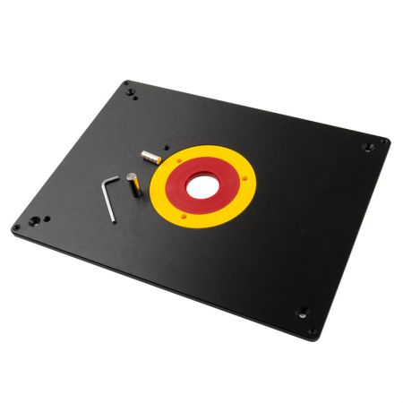 12-inch x 9-inch Aluminum Router Insert Plate - Aluminum Router Plate