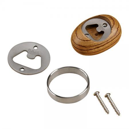 Stainless Steel Bottle Opener Disc Kit for Woodturning - Bottle Opener Kit