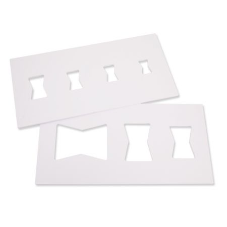 PVC Butterfly Key Inlay Template Set 7 Holes - Butterfly Key Inlay Template