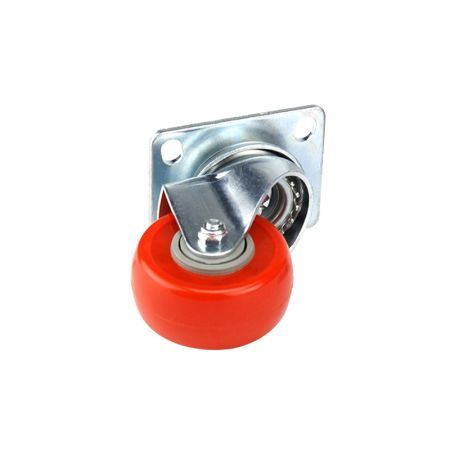 Caster 2.5-inch Swivel Plate Mount - Wheel Casters Non-Locking