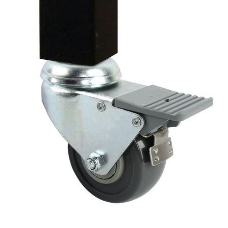 Dual Locking Swivel Caster Wheels Set - Dual Locking Swivel Caster