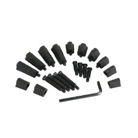 3/4 & 1-1/2 Inch Tall Long Flat Jaw Stops and Screws - Long Cole Stops And Screws