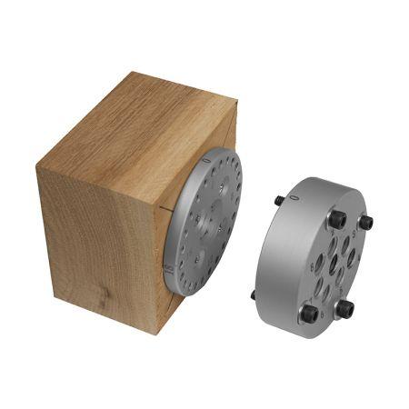 El sistema de mandril descentrado funciona con tornos y # 2 MT - Sistema de mandril descentrado