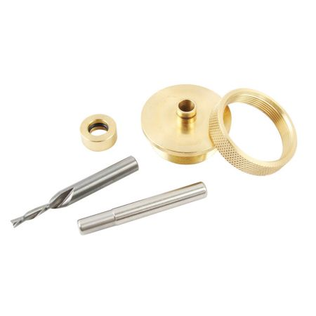 Solid Brass Inlay Kit with 1/8-inch Router Bits - Router Bits Solid Brass Inlay Kit
